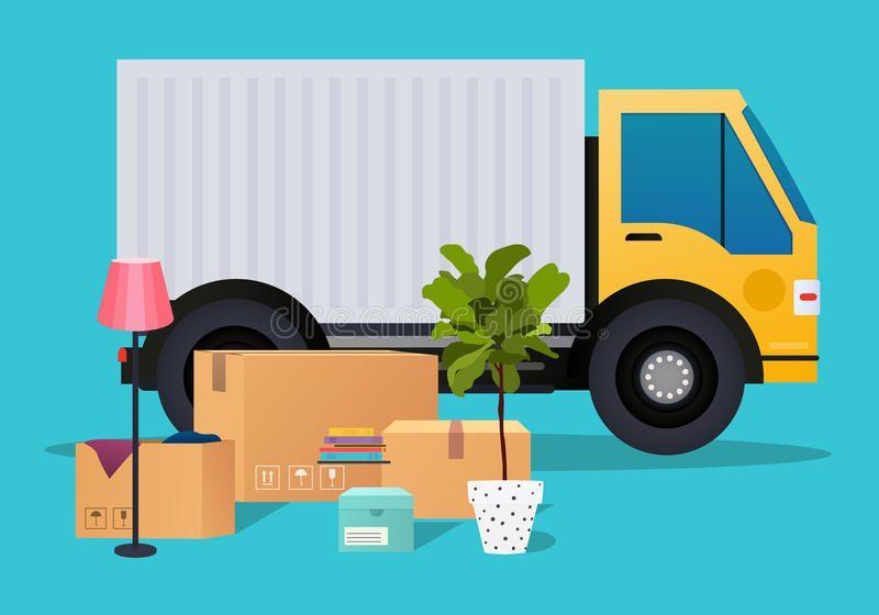 rorande-lastbil-och-kartonger-flytta-sig-for-hus-compan-transport-79869715
